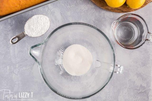 jello powder in a mixing bowl