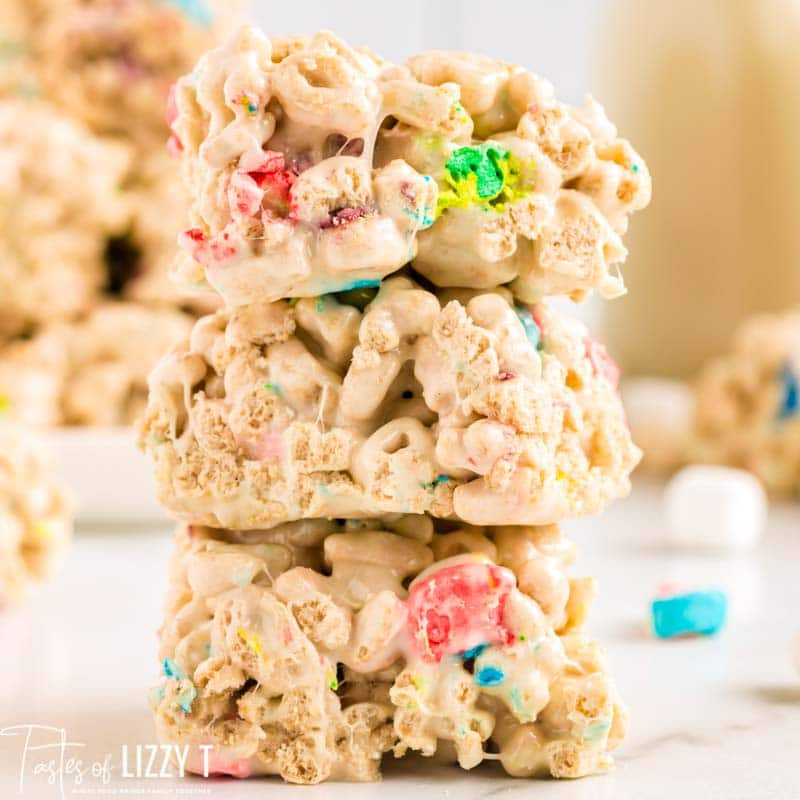 stack of 3 marshmallow cereal bars