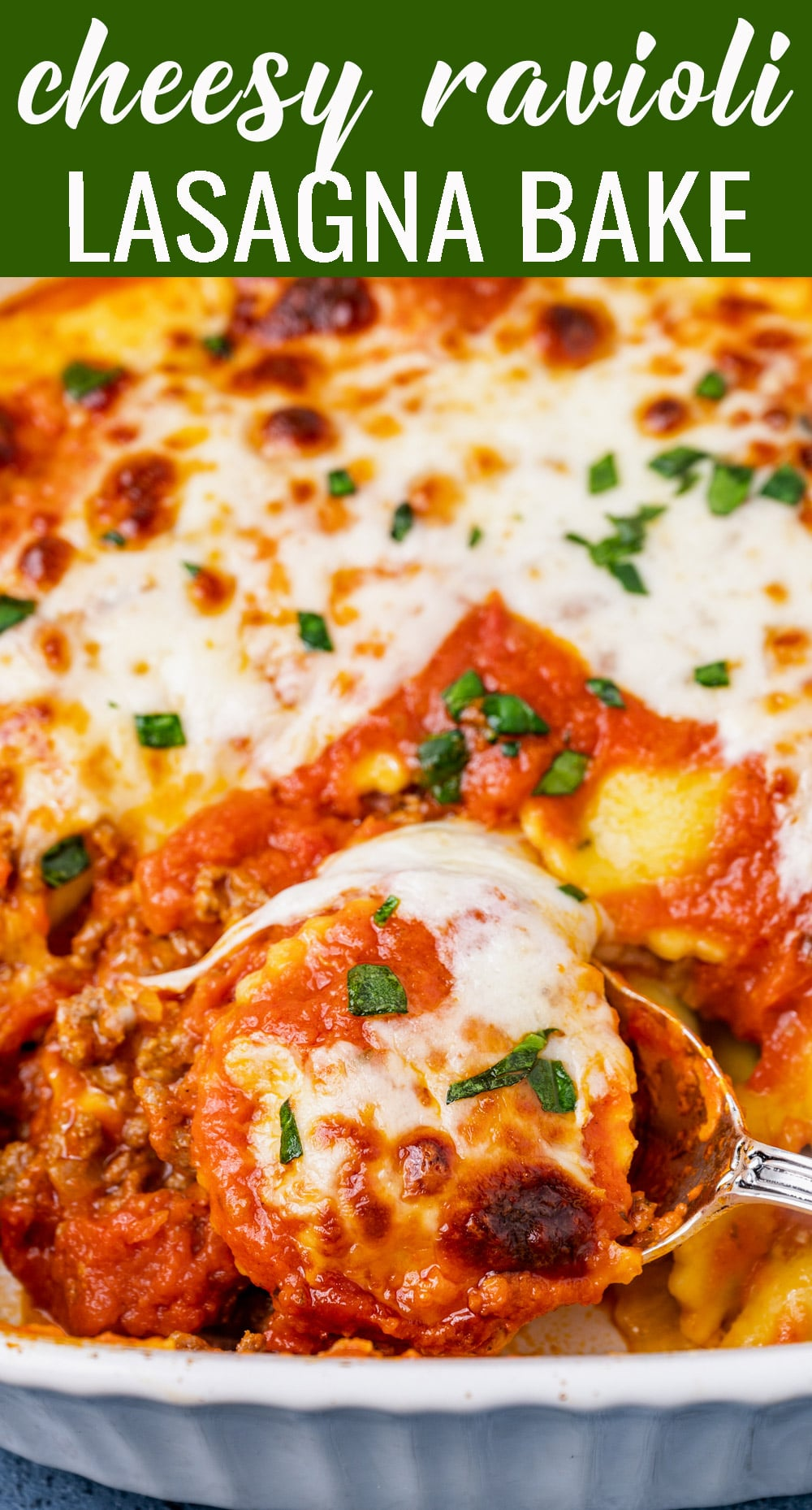 Only 6 ingredients needed for this Ravioli Lasagna Bake. Tips, tricks and variations to create this dinner recipe your family will love. via @tastesoflizzyt