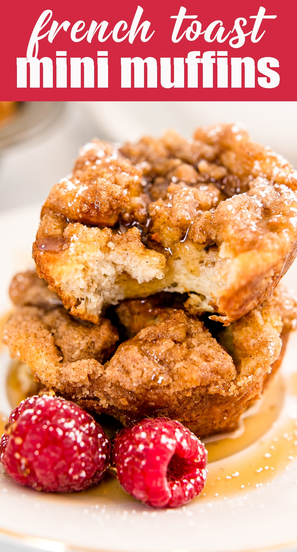 This kid friendly recipe is a great make ahead breakfast for school days. French Toast Muffins with a buttery sugar streusel will bring smiles. via @tastesoflizzyt