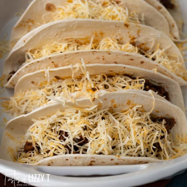 soft shelled tacos with cheese