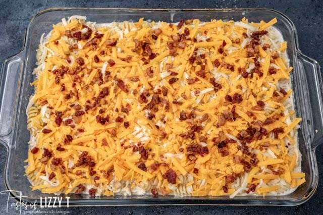 unbaked chicken bacon ranch casserole