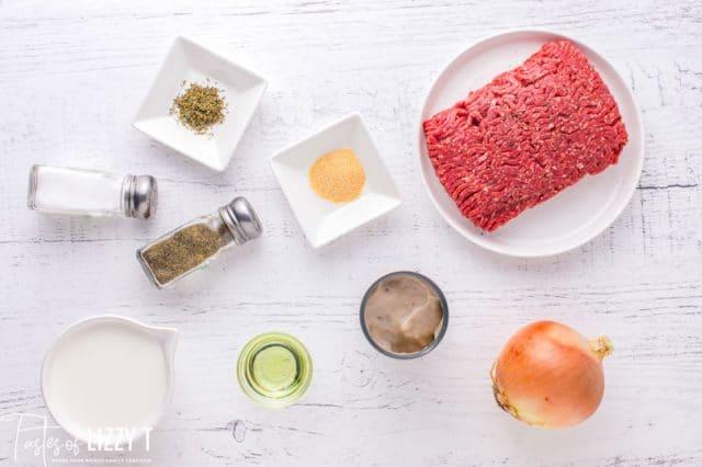ingredients for ground beef gravy