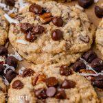 closeup of of cowboy cookies