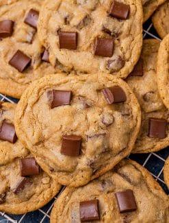 pile of chocolate chunk cookies