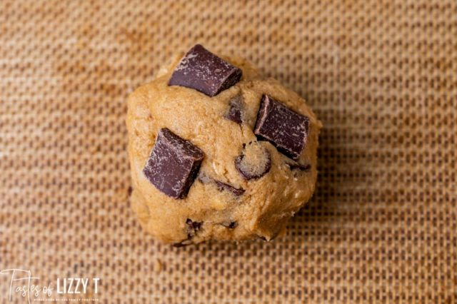 a ball of cookie dough
