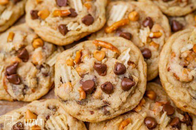 kitchen sink cookies with pretzels