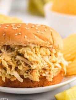 an ohio chicken sandwich sitting on a plate