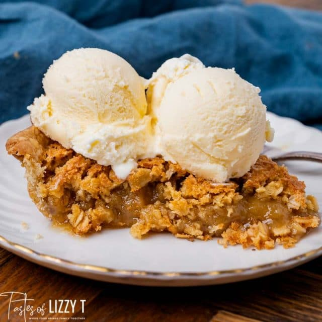 pie and ice cream on a plate