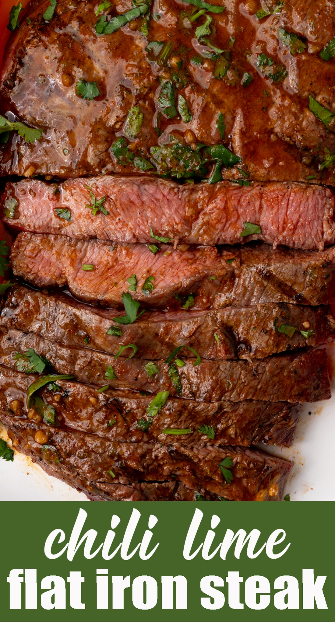 Learn how to make Chili Lime Flat Iron Steak with a mouthwatering, flavorful resting butter. This grilled steak looks fancy, but is easy & quick enough for weeknight dinners. via @tastesoflizzyt