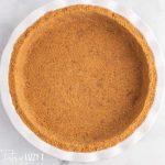 graham crust in a pie plate