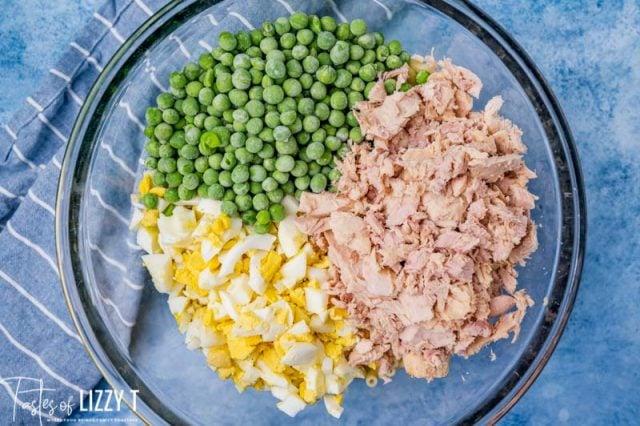 unmixed tuna macaroni salad