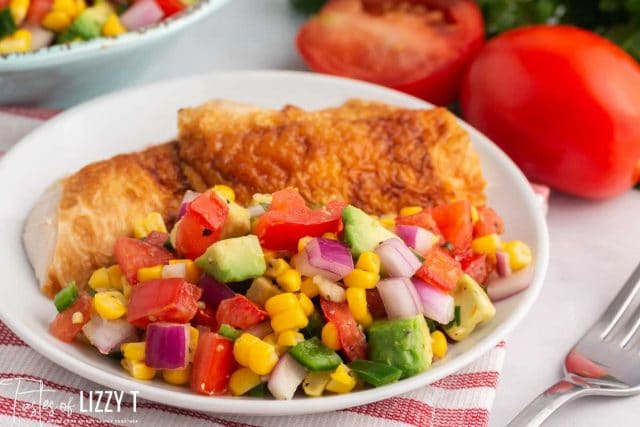 place of chicken with corn salsa