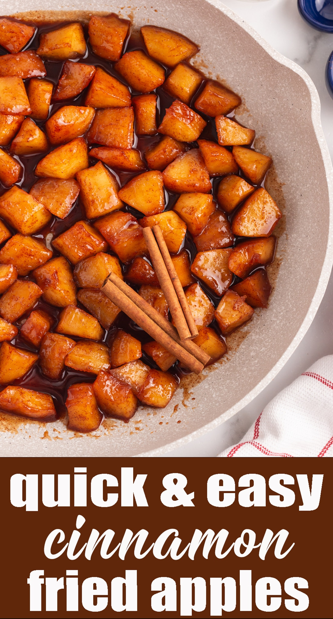 These cinnamon fried apples will melt in your mouth! Softened apples in a butter, sugar and cinnamon mixture. A delicious side dish or dessert recipe. #apples #crackerbarrel #dessert via @tastesoflizzyt