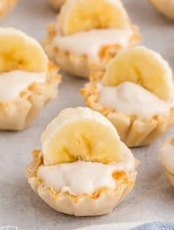 bite size banana cheesecakes