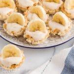 mini banana cheesecakes on a plate