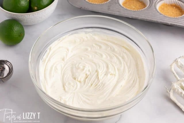 cream cheese filling for mini cheesecakes
