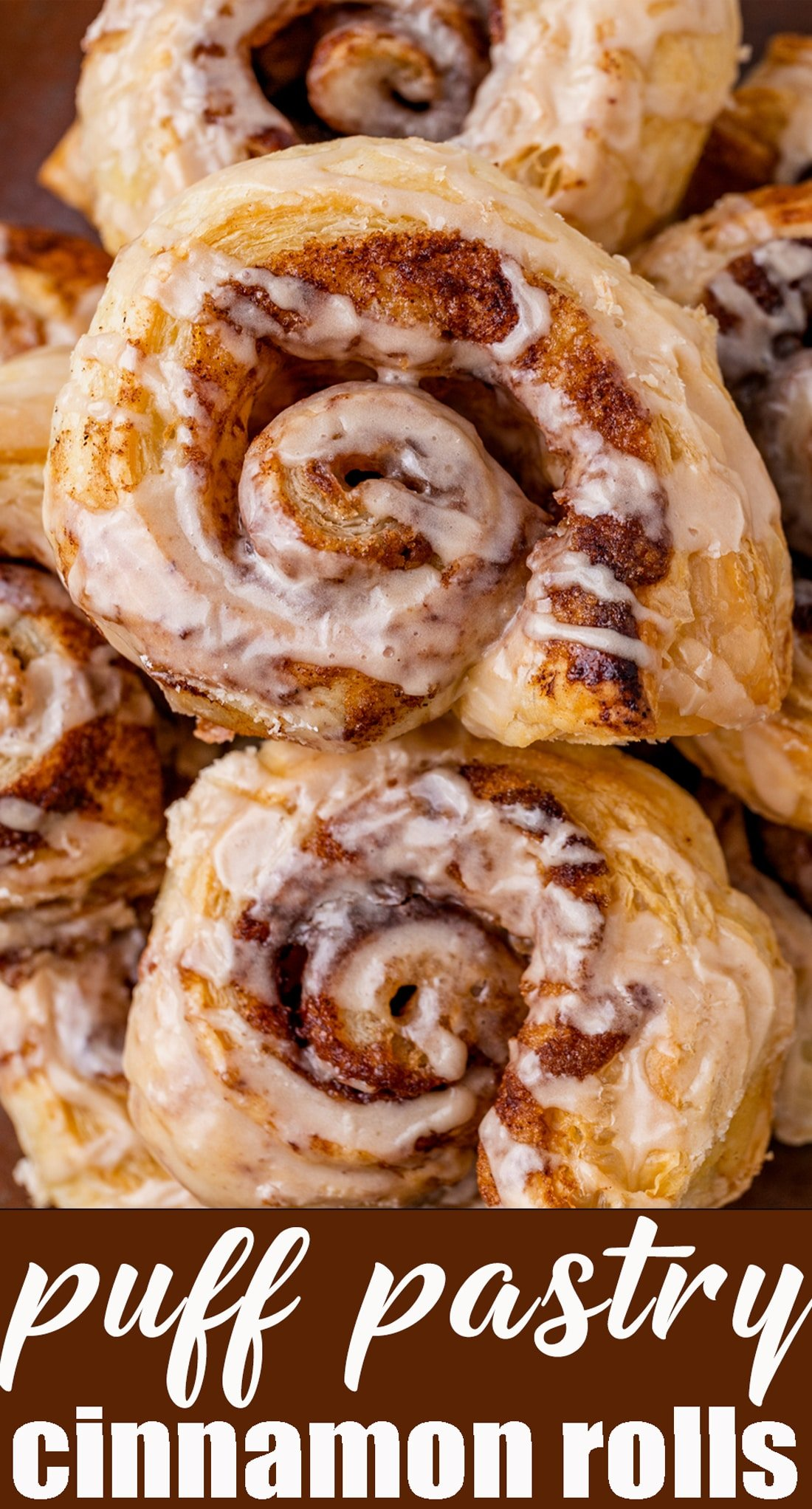 Buttery, flaky, Puff Pastry Cinnamon Rolls are the ideal solution when you crave a sweet roll. Quick and easy, ready in about 30 minutes and topped with a simple maple glaze. via @tastesoflizzyt