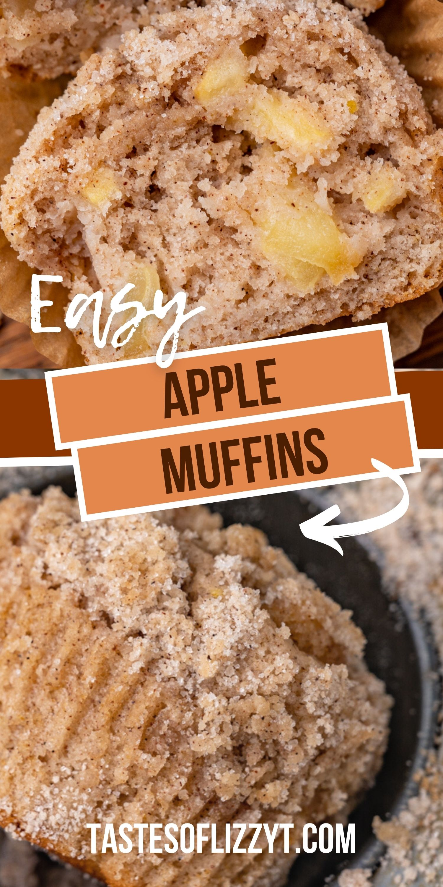Soft apple muffins loaded with cinnamon flavor and a buttery streusel baked on top. These are delicious warm or served the next day since they are so tender. via @tastesoflizzyt