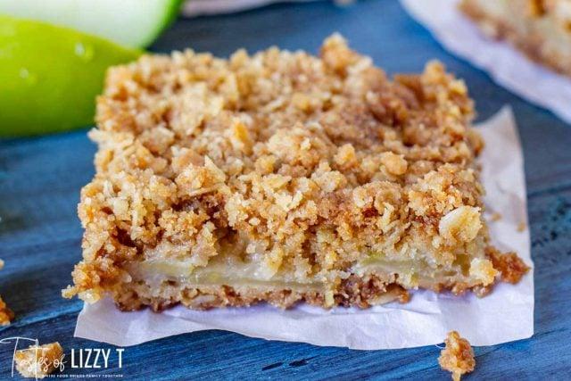 apple oatmeal bar sitting on a table