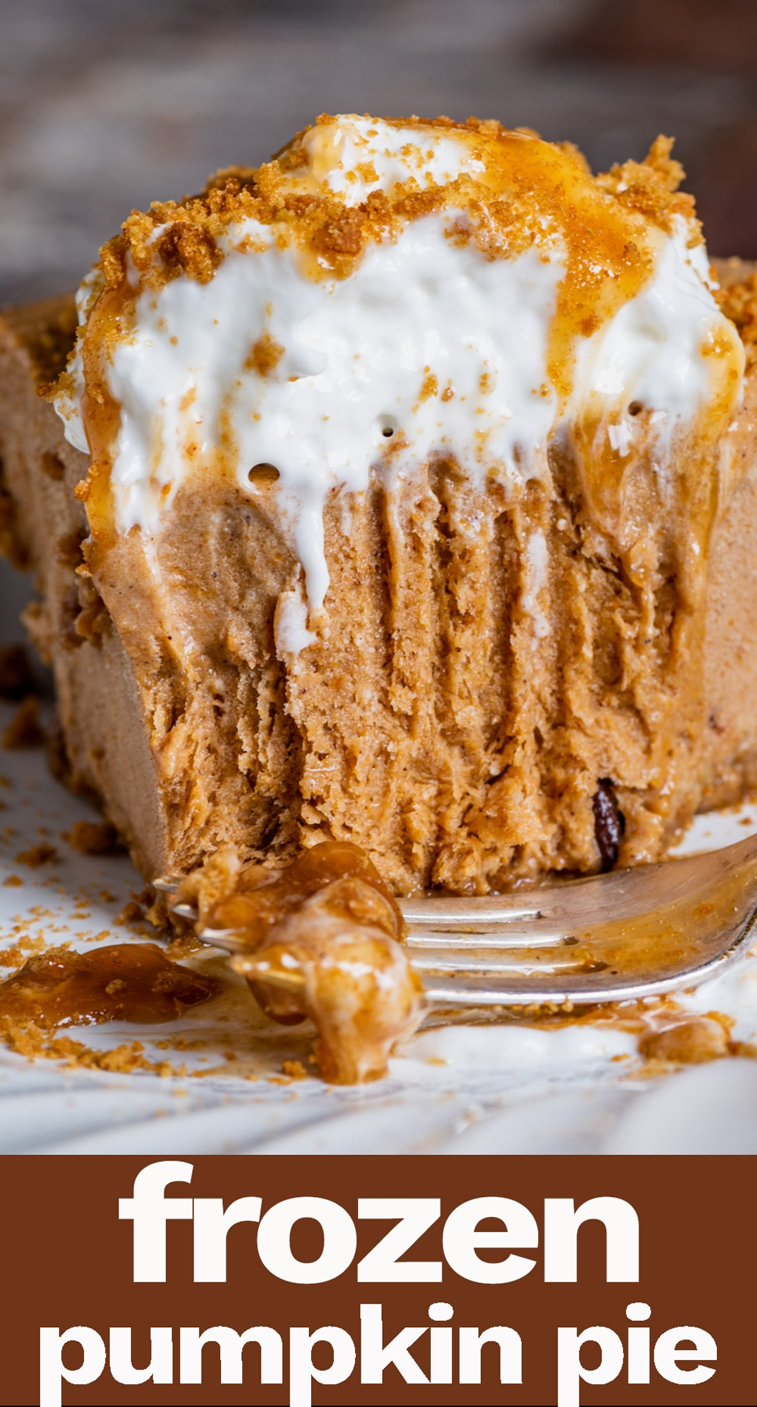 Looking for an alternative to traditional pumpkin pie? Try this frozen pumpkin pie made with coffee ice cream sitting inside a gingersnap crust. An easy pumpkin recipe for the holidays! via @tastesoflizzyt