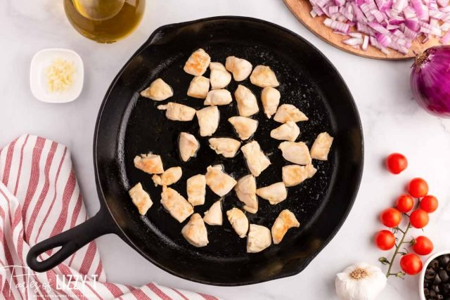 pan fried chicken in a skillet